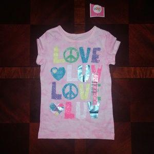 NWT Girl's Circo 'Love Luv Love Luv' t-shirt M